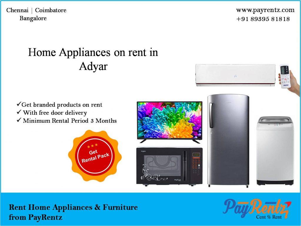 rent, Home appliances on rent, Adyar, fridge on rent, washing Machine on rent, rental appliances